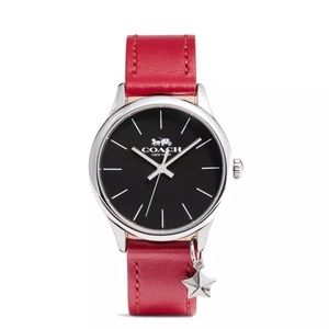 Authentic COACH Ruby leather strap Black watch.NWT